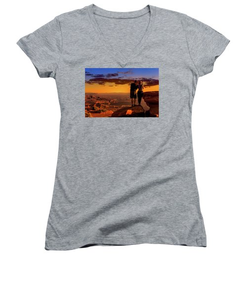 Smartphone Photo Opportunity Women's V-Neck (Athletic Fit)
