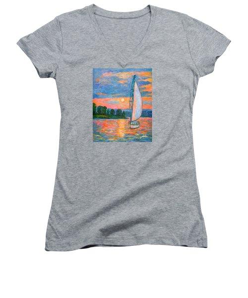 Smith Mountain Lake Women's V-Neck T-Shirt