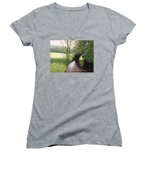 Smith Stream Women's V-Neck T-Shirt