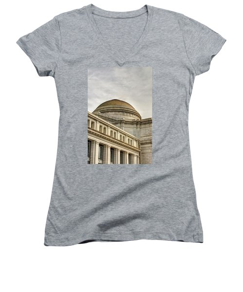 Smithsonial National History Museum Women's V-Neck (Athletic Fit)