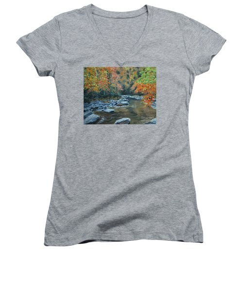 Smokey Mountain Autumn Women's V-Neck
