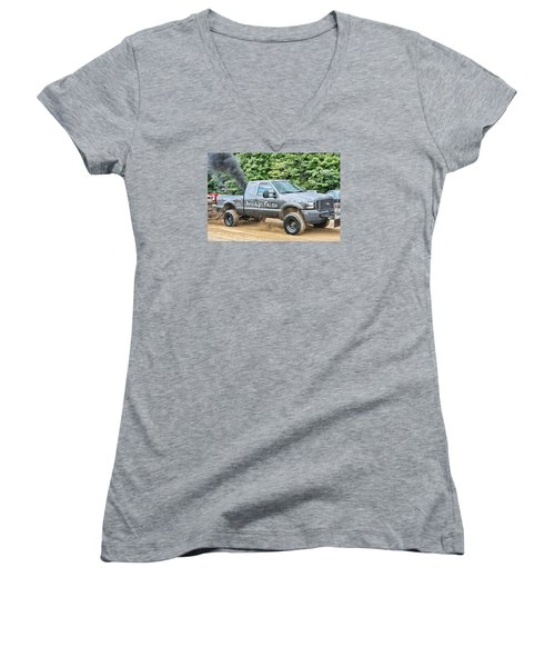 Smokin' Guns Women's V-Neck (Athletic Fit)