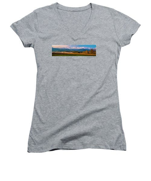 Smoky Mountains At Cades Cove I Women's V-Neck (Athletic Fit)