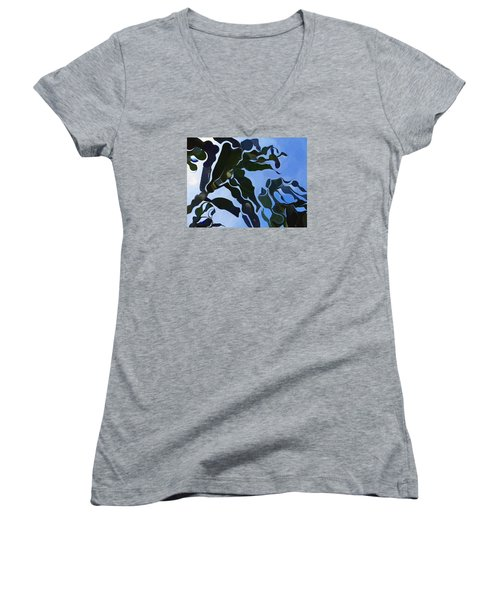 Smooth Bamboos Women's V-Neck T-Shirt (Junior Cut) by Tina M Wenger