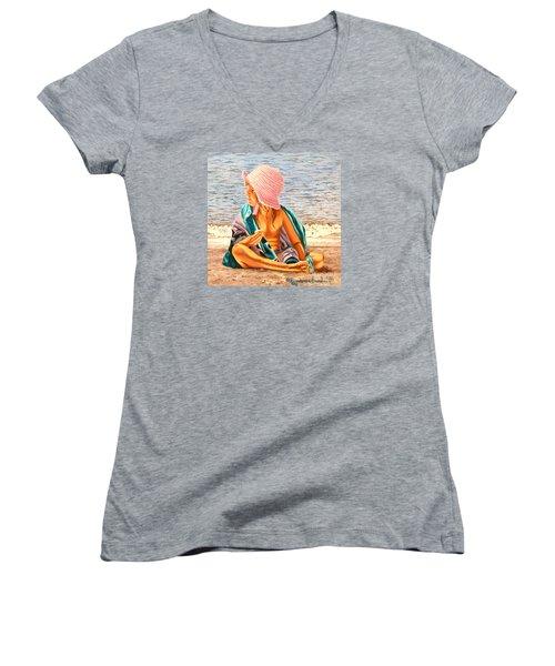 Snack Time - Merienda Women's V-Neck T-Shirt