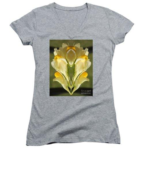 Snappy Bouquet Women's V-Neck T-Shirt (Junior Cut) by Christina Verdgeline