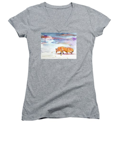 Sniffing Out Some Magic Women's V-Neck T-Shirt (Junior Cut) by Beverley Harper Tinsley