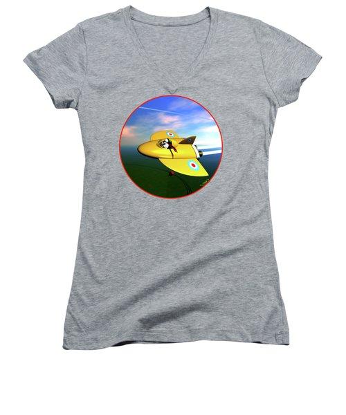 Snoopy The Flying Ace Women's V-Neck