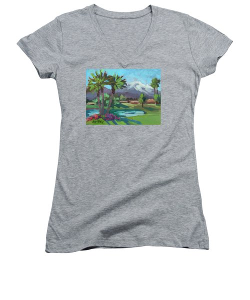 Snow On Mt. San Jacinto Women's V-Neck