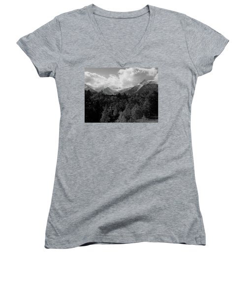 Snow On The Mountains Women's V-Neck T-Shirt