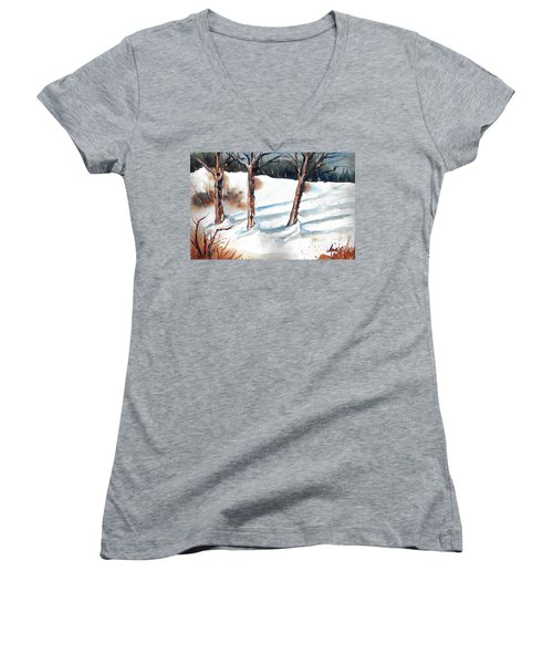 Snow Orchard Women's V-Neck (Athletic Fit)