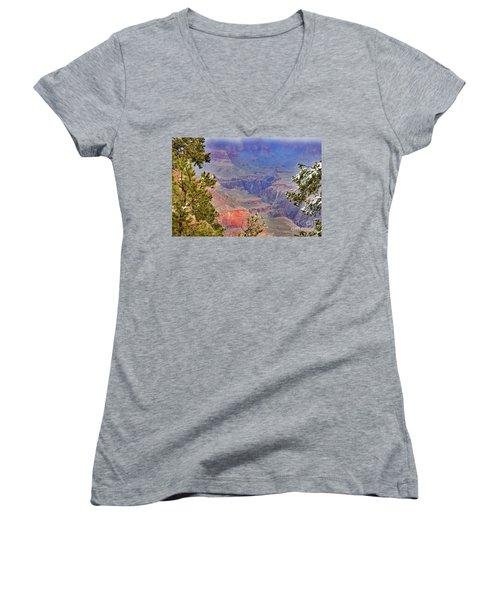 Snow Showers Women's V-Neck T-Shirt