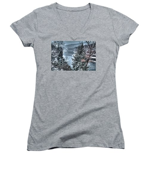 Snow Squall Women's V-Neck (Athletic Fit)