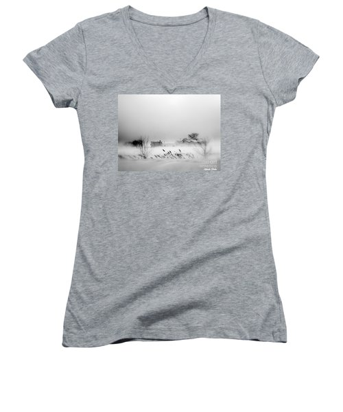 Snowed - In Women's V-Neck (Athletic Fit)