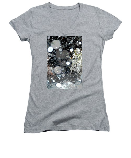Snowfall Deconstructed Women's V-Neck (Athletic Fit)