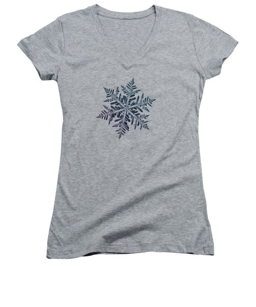 Snowflake Photo - Neon Women's V-Neck (Athletic Fit)