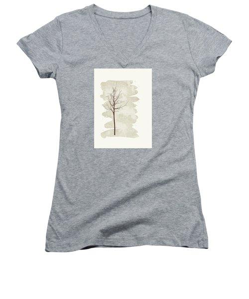 Snowflakes Swirl Women's V-Neck T-Shirt (Junior Cut)
