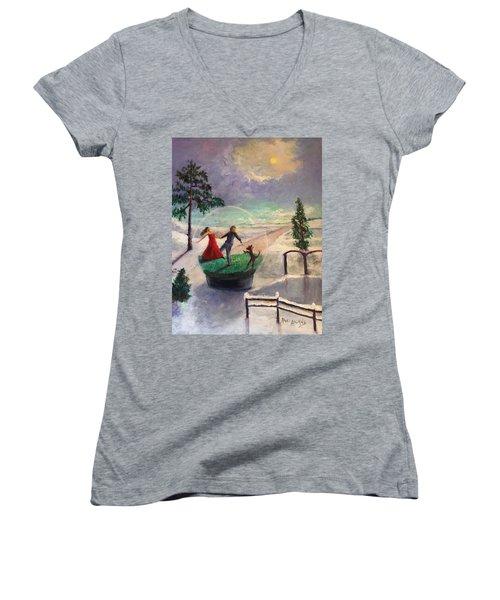 Snowglobe Women's V-Neck T-Shirt
