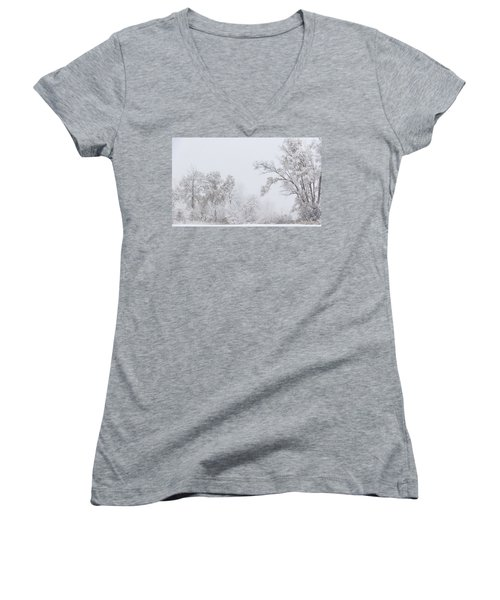 Snowing In A Starbucks Parking Lot Women's V-Neck (Athletic Fit)