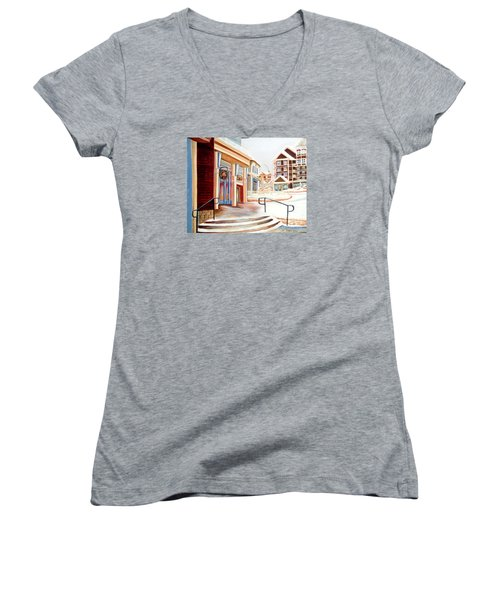 Snowshoe Village Shops Women's V-Neck T-Shirt