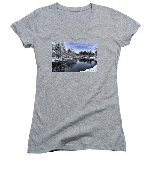 Snowy Ellicott Creek Women's V-Neck