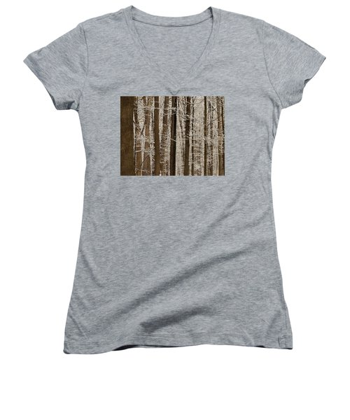 Snowy Forest Elevation Women's V-Neck