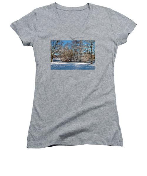 Snowy Island Women's V-Neck (Athletic Fit)