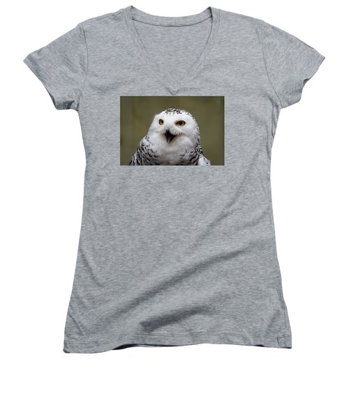 Snowy Sings Women's V-Neck