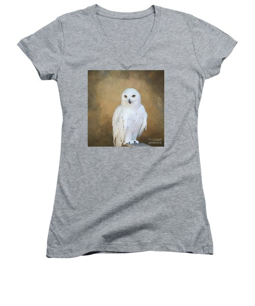 Snowy White Women's V-Neck