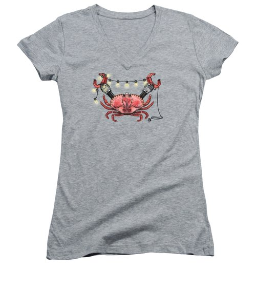 So Crabby Chic Women's V-Neck (Athletic Fit)