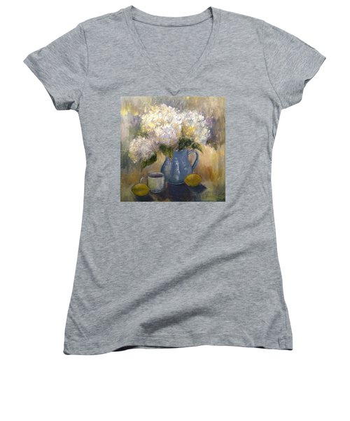 So Happy And Excited To Say That This Women's V-Neck T-Shirt