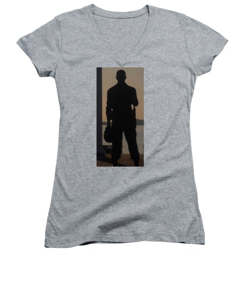 Women's V-Neck T-Shirt (Junior Cut) featuring the photograph So Help Me God by John Glass