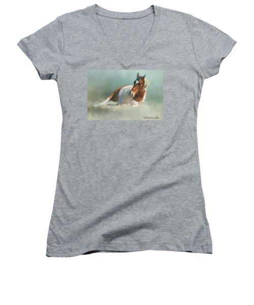 Soaking Up Some Sun Women's V-Neck T-Shirt