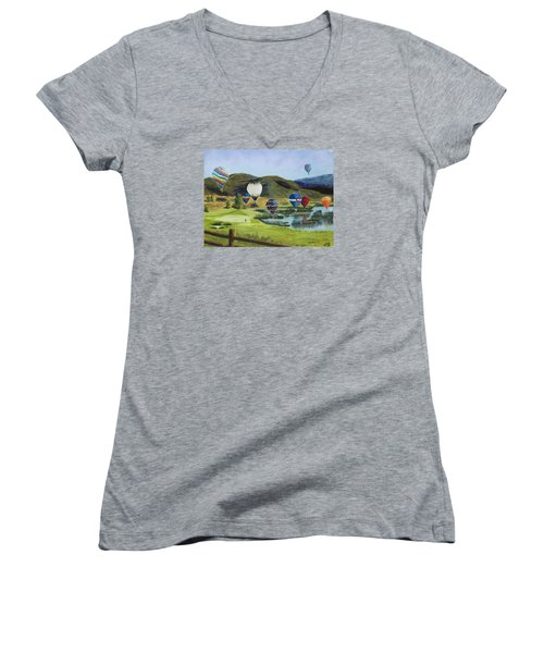 Soaring Over Colorado Women's V-Neck (Athletic Fit)