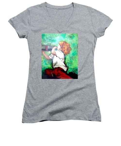 Soda Pop Child Women's V-Neck T-Shirt