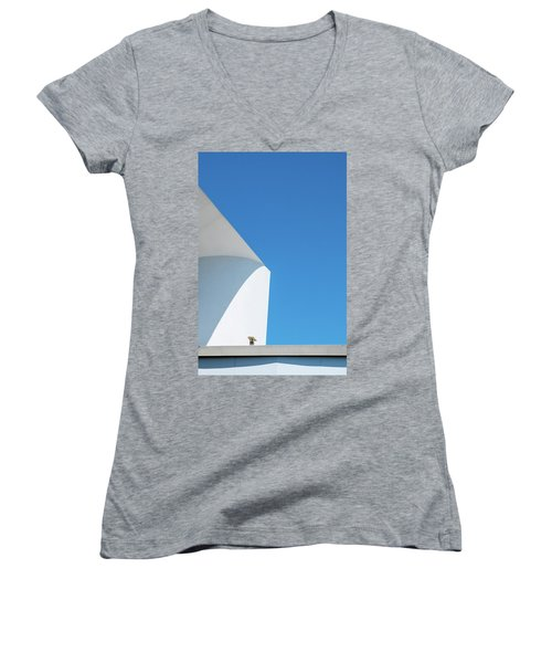 Women's V-Neck featuring the photograph Soft Blue by Eric Lake