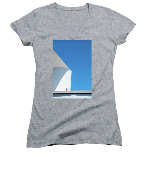 Soft Blue Women's V-Neck