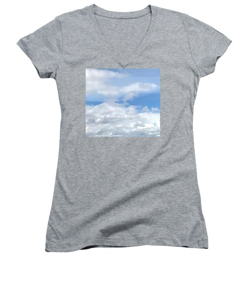 Soft Heavenly Clouds Women's V-Neck (Athletic Fit)