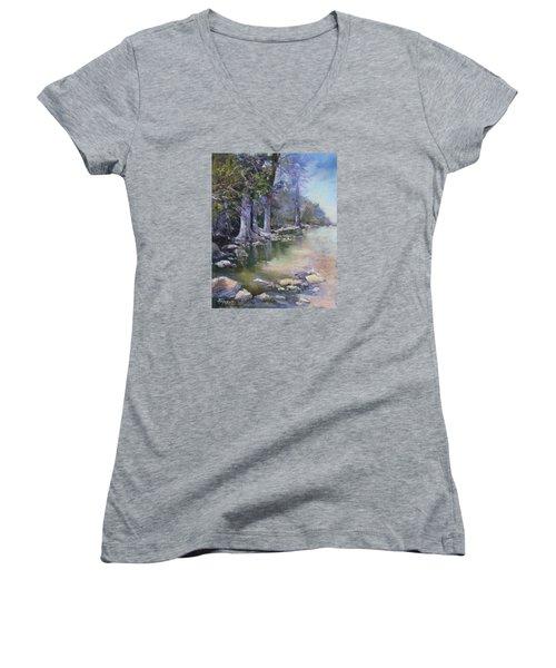 Soft Light On The Pedernales Women's V-Neck T-Shirt