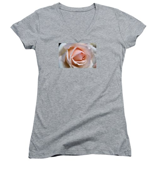 Soft Rose Women's V-Neck T-Shirt (Junior Cut) by Joy Watson