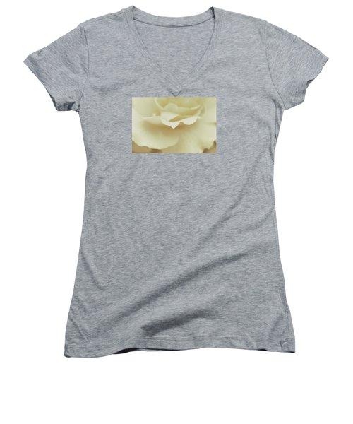 Women's V-Neck T-Shirt (Junior Cut) featuring the photograph Soft Tender Rose by The Art Of Marilyn Ridoutt-Greene