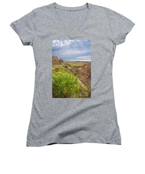 Softly Rumbling Sky Women's V-Neck T-Shirt