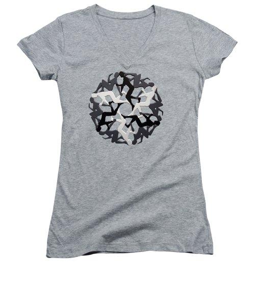 Sol 6 Women's V-Neck T-Shirt
