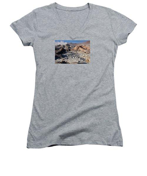 Sol De Manana Geothermal Field  Women's V-Neck T-Shirt