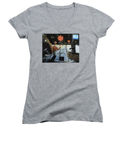 Solar Broadcast -transition- Women's V-Neck T-Shirt