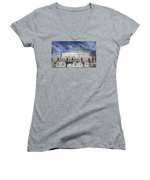 Soldier Field Women's V-Neck T-Shirt