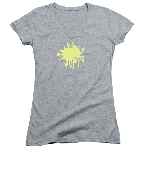 Solid Yellow Pastel Color Women's V-Neck T-Shirt (Junior Cut) by Garaga Designs