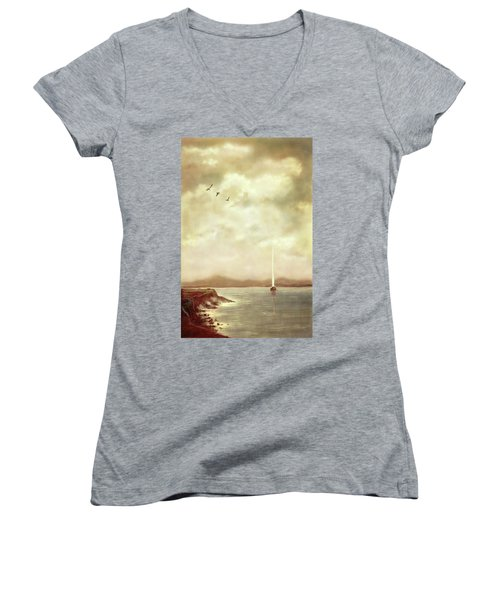 Solitary Sailor Women's V-Neck