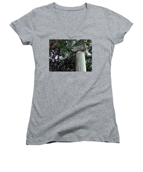 Women's V-Neck T-Shirt (Junior Cut) featuring the photograph   Solitary by Steve Sperry