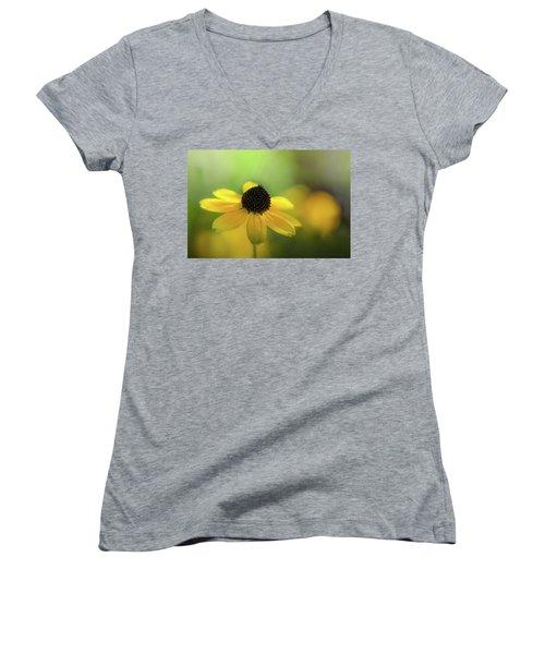 Solitary Suzy Women's V-Neck T-Shirt (Junior Cut) by Peter Scott